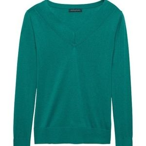 Banana Republic Silk Cashmere V-Neck Sweater